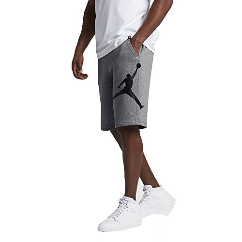 Pantaloncini sportivi uomo JORDAN 11 LEGACY SHORT 884280-091_XL - CARBON HEATHER / BLACK