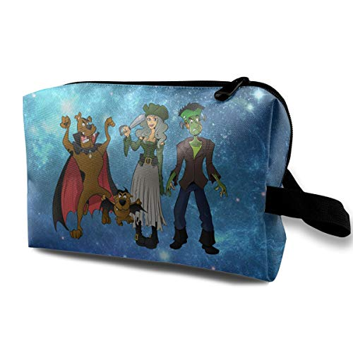 MyLoire Multifunction Travel Cosmetic Makeup Bag - Halloween Scooby-doo Pencil Case Handbag Organizers With -