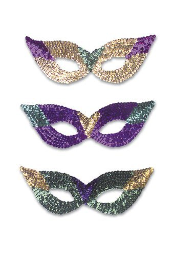 - WMU - Cat Eye Masks Sequins Assorted Color (1 pack of 3 items)