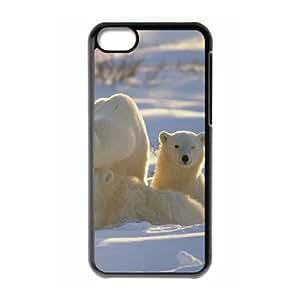 TOSOUL Print Polar Bear Pattern PC Hard Case for iPhone 5C