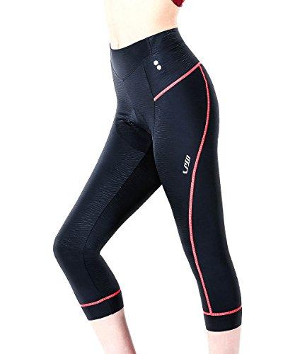 - Swallow Women Bike Tights 3/4 Ladies Bike Shorts Padded Bike Pants MTB Women Cycling Clothing (Pink, Large)