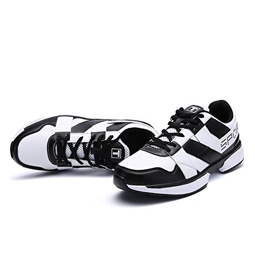 Scarpe Uomo Shufang White Corsa shoes Black da wq8Fq
