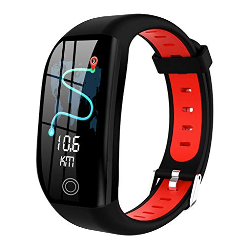 Nesee Fitness Tracker, Bluetooth 4.0 Heart Rate Monitor Bracelet, IP68 Waterproof, Touch Screen, Smart Wristband, Pedometer Sports Activity Tracker Smart Watch for Android and iOS Smartphone (Red)