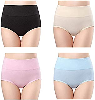 7b5e36079 Fashiol Present Women Underwear High Waist Full Coverage Brief Panty (Pack  of 3) Assorted