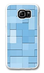 Blue squares Custom Samsung Galaxy S6/Samsung S6 Case Cover Polycarbonate White