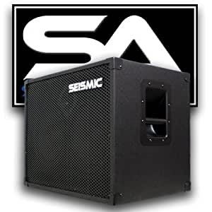 seismic audio 210 bass guitar speaker cabinet with horn and volume control pa dj. Black Bedroom Furniture Sets. Home Design Ideas