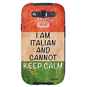Cool Painting Italian Flag Cannot Keep Calm Distressed Look Unique Quality Soft Rubber Case for Samsung Galaxy S4 I9500 - White Case