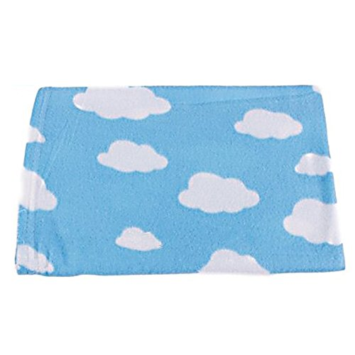 """Pets Blanket Dogs Cats Throws 31"""" X 35"""" Cloud Print Blue"""