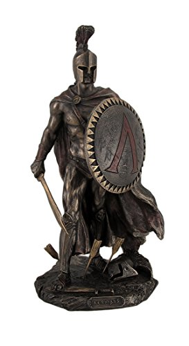 Sword Statue (Resin Statues Spartan King Leonidas With Sword And Shield Bronzed Statue 3.5 X 10 X 4 Inches Bronze)