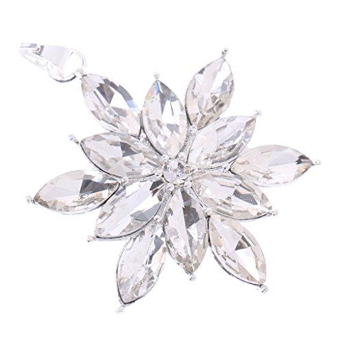 MonkeyJack Vantage Women Jewelry Rhinestone Snowflake Pendant for Christmas Birthday Gift