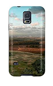 ZippyDoritEduard Premium Protective Hard Case For Galaxy S5- Nice Design - Stones Fields Trees Clouds Blue White Grey Red Brown Forest Nature Other
