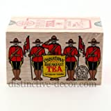 The Metropolitan Tea Company 62WD-618B-540 RCMP Canadian Breakfast 25 Teabags in Wood Box