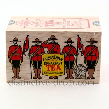 The Metropolitan Tea Company 62WD-618B-540 RCMP Canadian Breakfast 25 Teabags in Wood Box