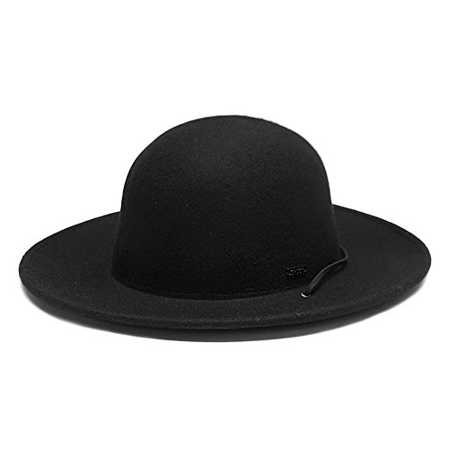 Black Amish Hat (Original Chuck by Mark McNairy Full Brim Wool Hat L/XL Black)