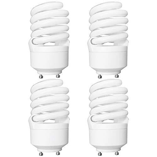 Luxrite LR22322 (4-Pack) CF23 23-Watt CFL T2 Spiral Bulb, Equivalent to 100W Incandescent, Cool Light 4100K, 1600 Lumens, GU24 Bi-Pin Base ()