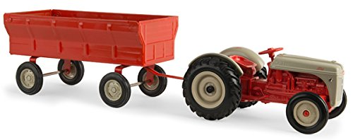 Toy Tractors Model (ERTL Unisex By Tomy 1/16 Ford 8N Tractor With Flarebox Wagon Toy Red One Size)
