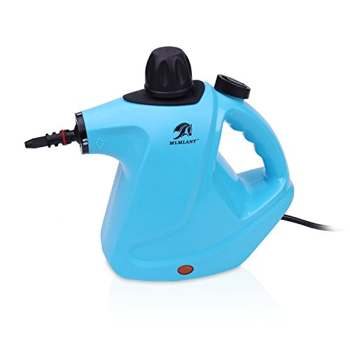 MLMLANT Handheld Pressurized Steam Cleaner with 9-Piece Accessory Set -...