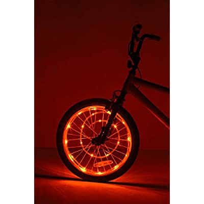 Brightz WheelBrightz LED Bicycle Wheel Accessory Light (for 1 Wheel), Orange : Sports & Outdoors