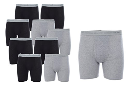 Boxer Briefs with Comfort Flex Waistband, Black/Grey, Medium ()