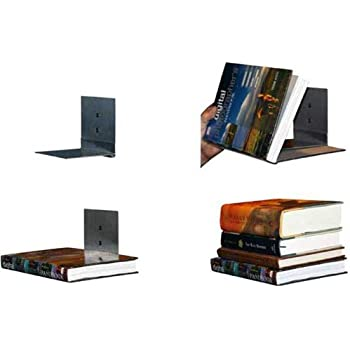 Floating Bookshelves Concealed Invisible Stainless Set Of 4