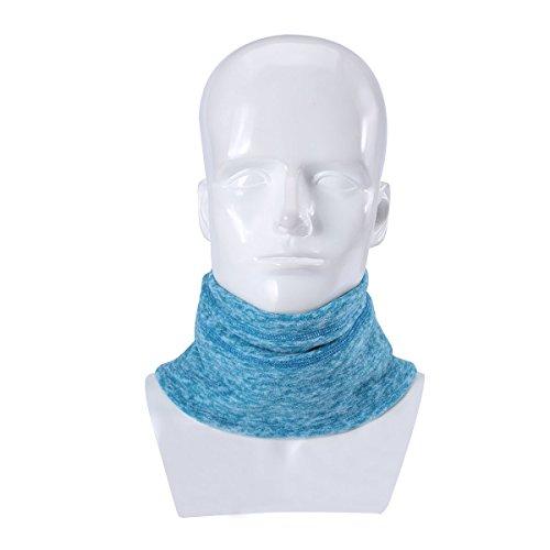 (Runtlly Neck Warmer - Reversible Neck Gaiter Tube, Hat Snood,Ear Warmer Headband, Mask & Beanie. Ultimate Thermal Retention, Versatility & Style. Turquoise )