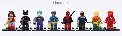8pcs/set Marvel the Flash Avengers Building Bricks Blocks Sets Super Hero Figures Minifigures Learning Toys Compatible with Lego