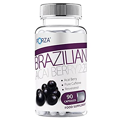 Forza Acai Berry 2:2:1 - Strong Diet Pills with Pure Acai - Natural Slimming Pills for Fast Weight Loss (90 Capsules)