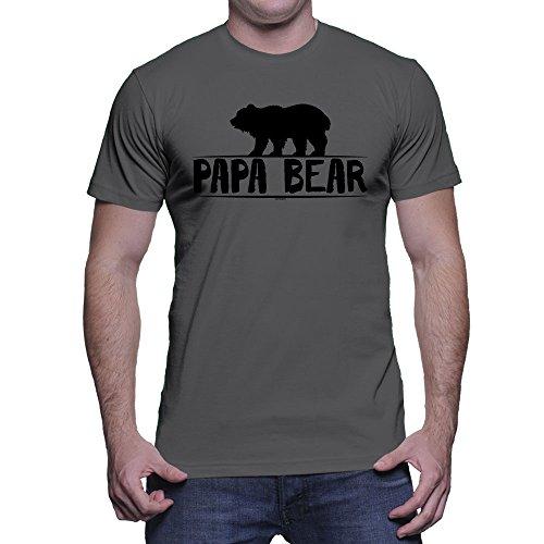 Men's Papa Bear T-Shirt (Charcoal,