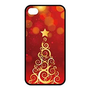 Top Iphone Case Beauty Lovely Funny Christmas Design for TPU Best Iphone 4/4s Case (black)