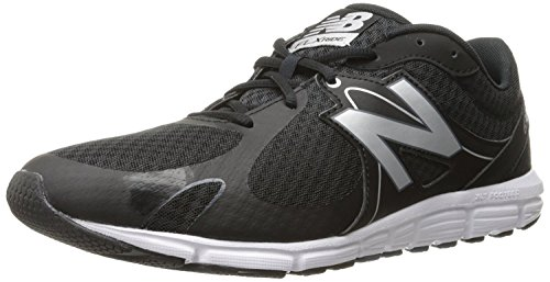New Balance Mens 630v5 Running Shoe, Negro/Plateado, 50 EU/14.5 UK