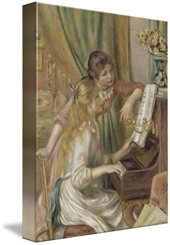 Renoir Jeunes Filles Au Piano - Wall Art Print Entitled Renoir - Jeunes Filles Au Piano 1892 by Celestial Images | 8 x 10