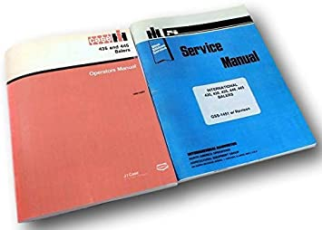 INTERNATIONAL 435 445 BALER OPERATORS OWNERS MANUAL MAINTENANCE CONTROLS IH NEW