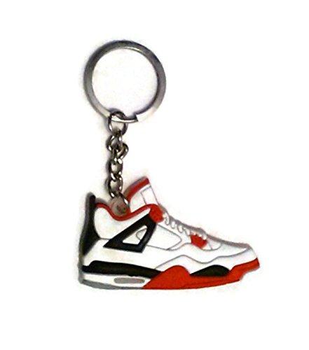 White Air Jordan IV Sneaker Keychain (Nike Pins)