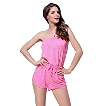 Abless Junior's Sunny Dazer Jumpsuit Womens Holiday Playsuit Romper Pink