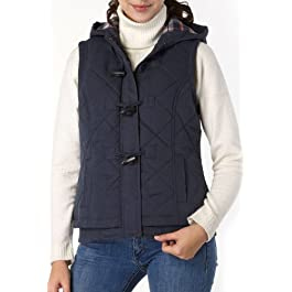 BGSD Women's Quilted Hooded Vest