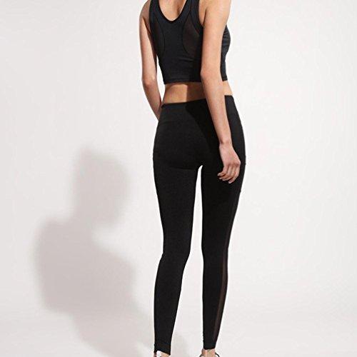 Abbigliamento Yoga Pantaloni jogging styledresser Da Donne Alta Nero Fitness yoga Donna Yoga Leggings allenamento Sportivo Vita fpCq1EYw
