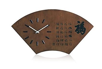 Vintage reloj de pared de madera habitacion oficina Mute fan reloj de cuarzo reloj clasico personalidad