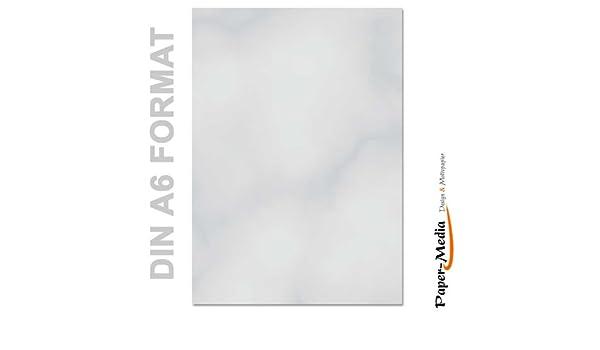 Papel de carta - Hojas estampadas MÁRMOL GRIS 100 hojas DIN A6: Amazon.es: Oficina y papelería