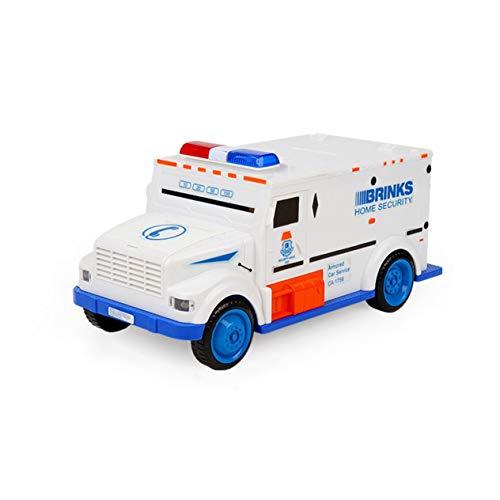Money Saving Box,Novelty Design Cash Truck Shape Automatic Deposit Saving Box Electronic Light Password Coins Money Box Piggy Bank Child Gift