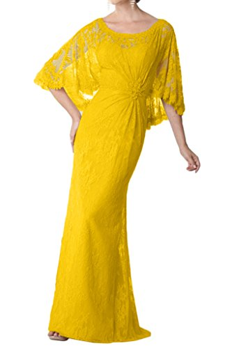 Mother Gown of Shawl Bride Glamorous Avril Yellow Lace Dress Guest With Dress Wedding qEP6xxwS