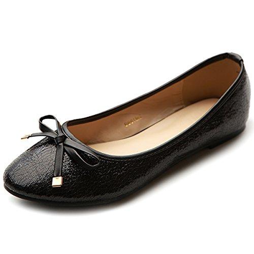 Ballet Ollio Ribbon Black Shoe Glitter Women's Flat xTcqZp4w0