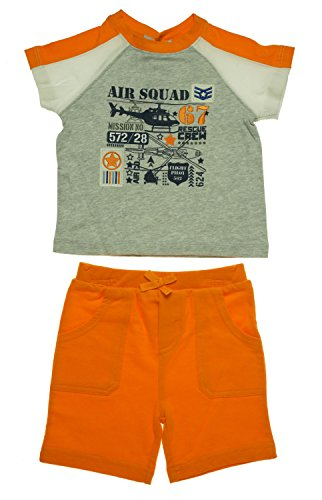 Absorba 2 Piece (absorba Boys 2 Piece Air Squad Short Set Orange 12 Months)