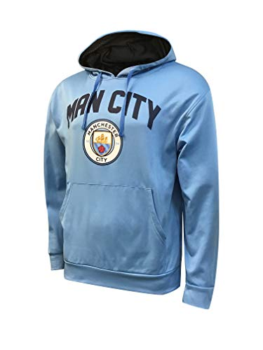 Icon Sports Manchester City Official Licensed Pullover Hoodie (Youth XL, Sky Blue)