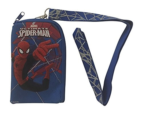 Spiderman Lanyard with Detachable Coin Purse (BLUE)