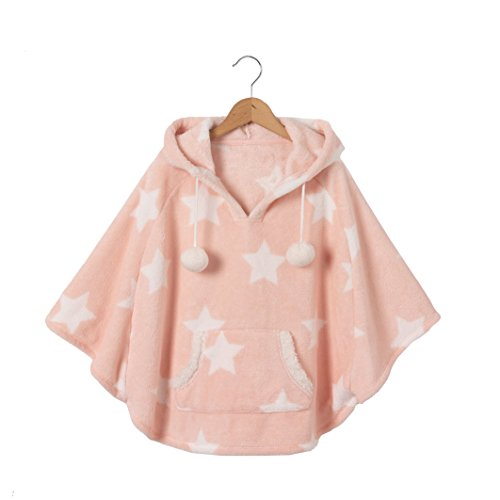 La Redoute Collections Big Girls Fluffy Effect Fleece Hooded Poncho, 2-12 Years Other Size 8 Years - 49 - Kid Poncho Girls