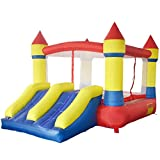 Yard Inflatable Bounce House Castle Jumper Moonwalk Bouncer With Blower, Commercial Grade Kids Slide Jumper Playhouse, 12.1 x 8.5 x 6.9