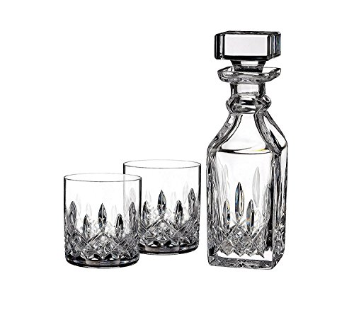 Connoisseur Decanter - Waterford Lismore Connoisseur 5oz Tumbler Pair with 15.5oz Square Decanter