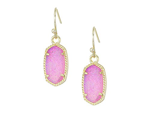 Kendra Scott Womens Lee Earring Gold/Violet Drusy One Size