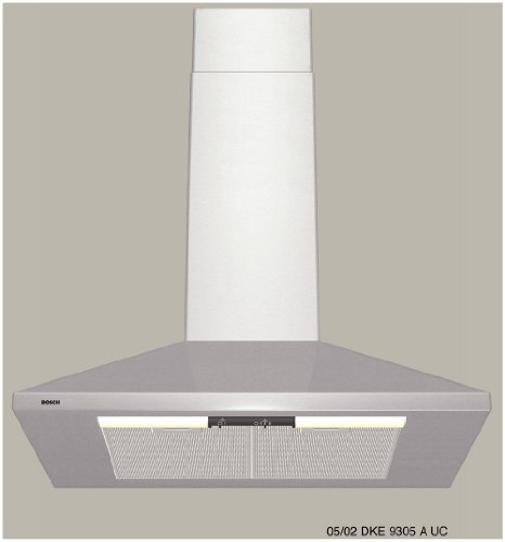 "Bosch DKE9305AUC300 30"" Stainless Steel Chimney Style Wall Mount Range Hood"