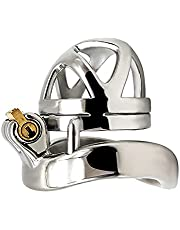 Mannelijke kuisheidsapparaat Roestvrij staal Cock Cage Ring Lock Riem Volwassen Game Sex Toy (Size : M-45mm)